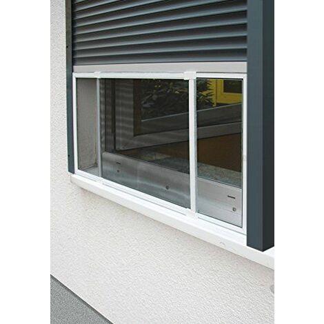 Schellenberg 50810 Insectstop Slide Moustiquaire à guillotine pour fenêtres avec volet roulant 142 x 50 cm