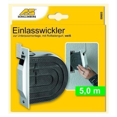 Schellenberg Einlaßwickler Mini inkl.5m Gurt w - 50603