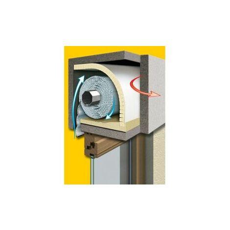 Schellenberg Rollladenkasten Dämmung 2-teilig, 100 x 50 cm/13 mm gelb