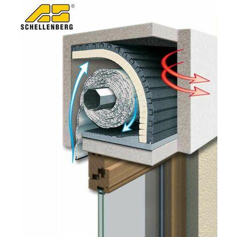 Schellenberg Rollladenkasten-Dämmung 2-teilig 100 x 50 cm, Stärke 25 mm anthrazit/gelb