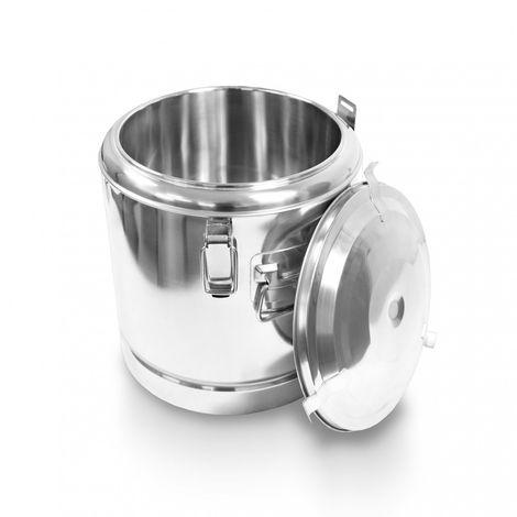 Schengler Edelstahl Thermobehälter 12 Liter - 30 x 30 cm + Deckel