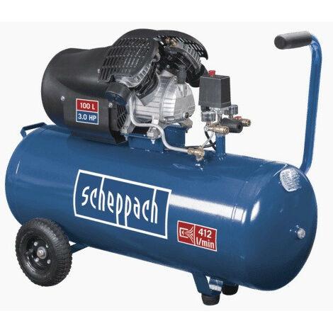 Scheppach - Compresseur à 2 cylindres 100L 8 bar 3CV 2200W - HC100DC