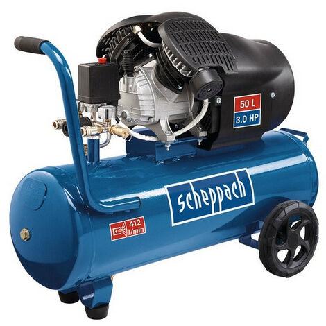 Scheppach - Compresseur à 2 cylindres lubrifié 50L 2200W 10bars - HC53DC