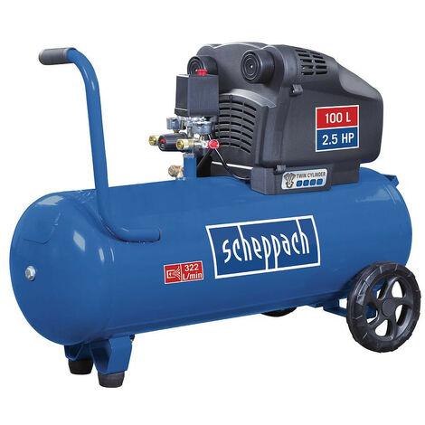 Scheppach - Compresseur professionnel 100 L 8 bar 1800W à deux cylindres - HC104DC
