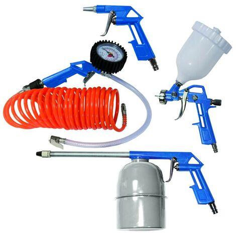 Scheppach Druckluft Werkzeug Set, 5-teilig