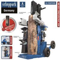Scheppach Holzspalter HL1500TWIN 15 T mit 2 Schwenktischen inkl. Verlängerungsk.