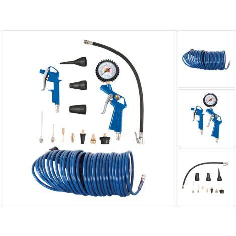 """Scheppach kit d'accessoires pour compresseur 1/4"""" 13 pcs. + Tuyau 10 m ( 7906100735 )"""
