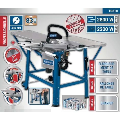 Scheppach - Scie circulaire sur table 400V 2800W 315mm - TS310