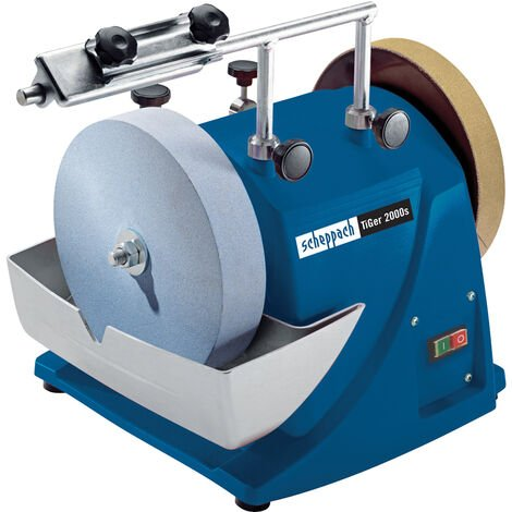 "main image of ""Scheppach Tiger 2000S 200mm Professional Wetstone Sharpening System   240v"""