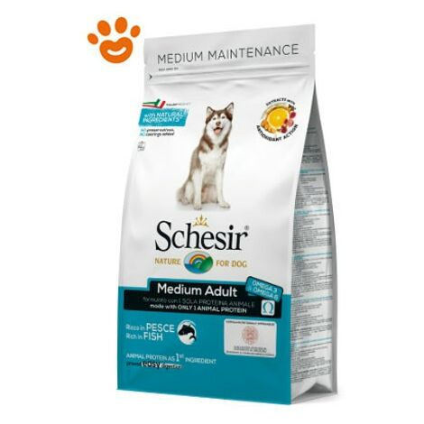 Schesir Dog Medium Adult Mantenimento Pesce
