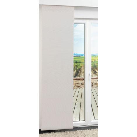 Schiebegardine Bambusoptik Weiß (B x H) 60cm x 245cm #1W 21391-62269