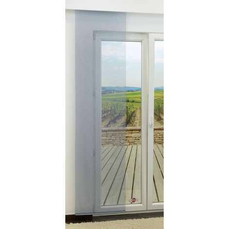 Schiebegardine - Coarse transparent einfarbig in den Maßen 245 cm x 60 cm blau/marine 899-1536
