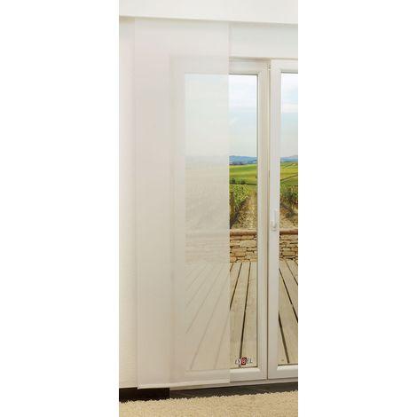 Schiebegardine - Dash transparent einfarbig in den Maßen 245 cm x 60 cm weiß 884-1486