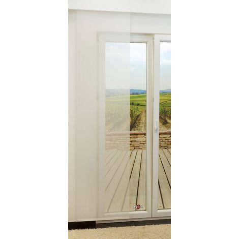 Schiebegardine - Eve transparent einfarbig in den Maßen 245 cm x 60 cm weiß 882-1483