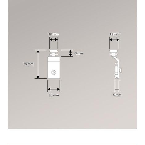 Schiebegardine Gleiter für Paneelwagen Höhe: 3,5 cm 746-1240