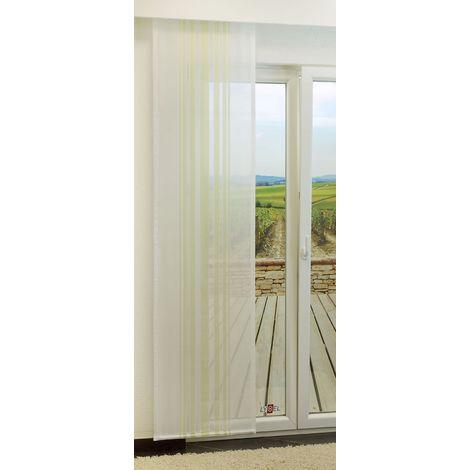 Schiebegardine - Pillar transparent mit Streifen in den Maßen 245 cm x 60 cm grün/hellgrün 896-1508