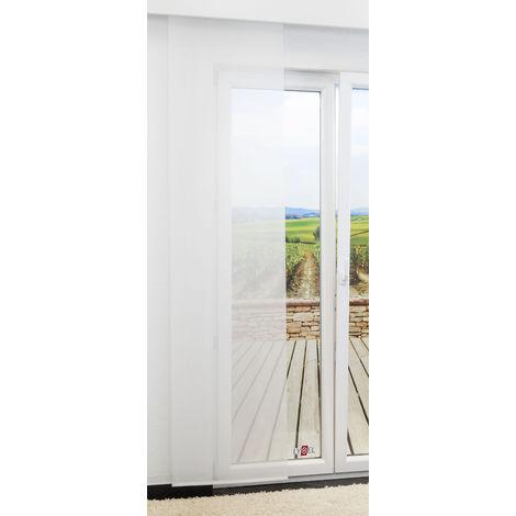 Schiebegardine - Pur Seamless transparent einfarbig in den Maßen 245 cm x 60 cm weiß/wollweiß 590-1074