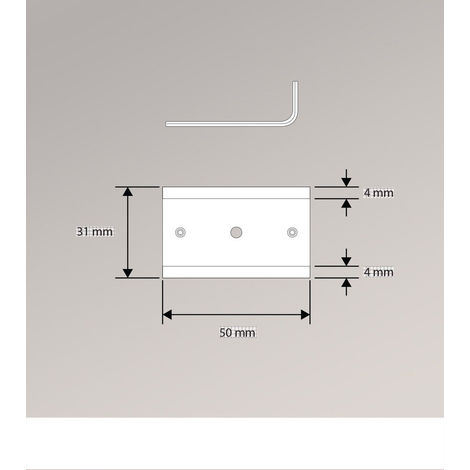 Schiebegardine Schienenverbinder Länge: 5cm 750-1245