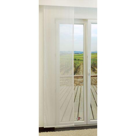Schiebegardine - Up transparent einfarbig in den Maßen 245 cm x 60 cm weiß/perlweiß 895-1507