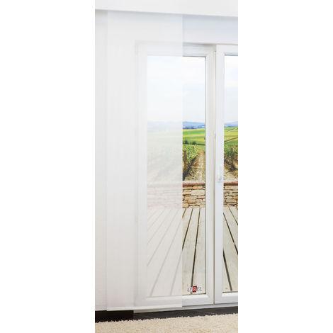 Schiebegardine - Vellum transparent einfarbig in den Maßen 245 cm x 60 cm weiß 874-1460