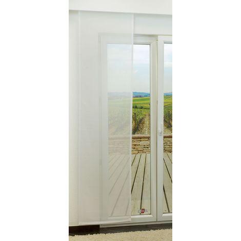 Schiebegardine - Wind transparent einfarbig in den Maßen 245 cm x 60 cm weiß/reinweiß 903-1554