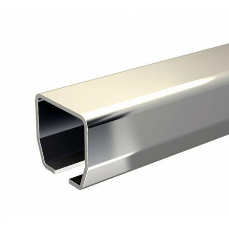 Schiebetorbeschlag SLID'UP 2000 Laufschiene aus Edelstahl VA2 304 L (1.4307), Länge 195 cm, Tore bis 60 kg, 30x28 mm