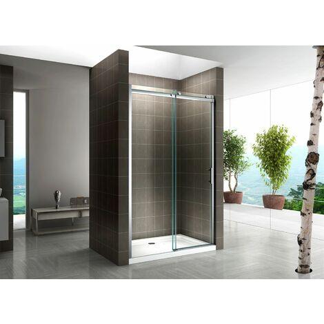 Schiebetür für Nische Duschabtrennung Dusche Duschkabine 8mm Klarglas