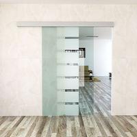 Schiebetür Zimmertür Glasschiebetür 105 x 205cm aus 10mm dickem ESG-Sicherheitsglas #15