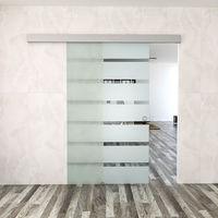 Schiebetür Zimmertür Glasschiebetür 105 x 205cm aus 10mm dickem ESG-Sicherheitsglas #22