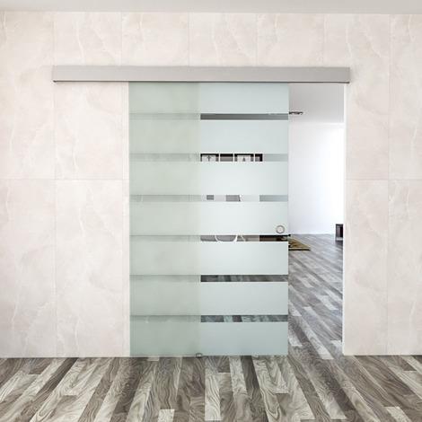 Schiebetür Zimmertür Glasschiebetür 90 x 205cm aus 10mm ...