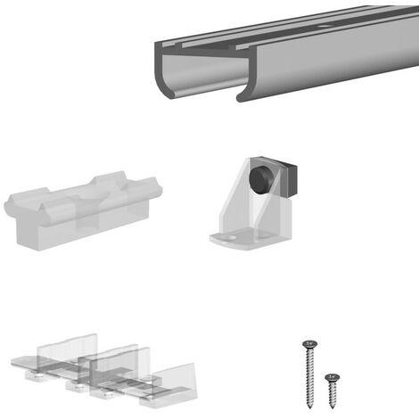 Schiebetürbeschlag APIS - Schienenlänge 1,0 m bis 1,8 m - für 2 Schranktüren - 9 kg