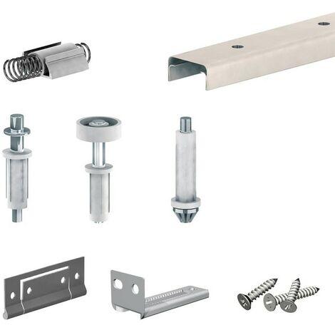 Schiebetürbeschlag APOLLO für Falttüren - für 4 Paneelen - Schiene 1213 mm
