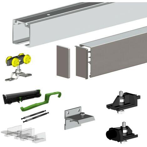 Schiebetürbeschlag SLID'UP 160 PREMIUM, 200 cm, für 1 Holztür bis 60 kg