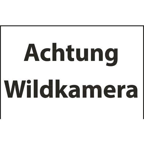 Schild Achtung Wildkamera 30x20cm