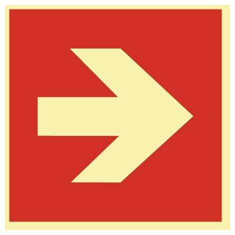 Schild Pfeil gerade 148x148mm Kunststoff rot/weiß ASR A1.3 DIN EN ISO 7010