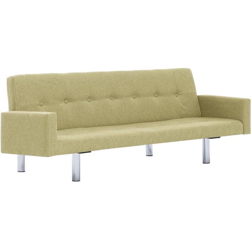Schlafsofa mit Armlehnen Polyester Grün