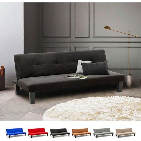 Schlafsofa Sofabett Couch Klappsofa 2 Sitzer Stoff Onice