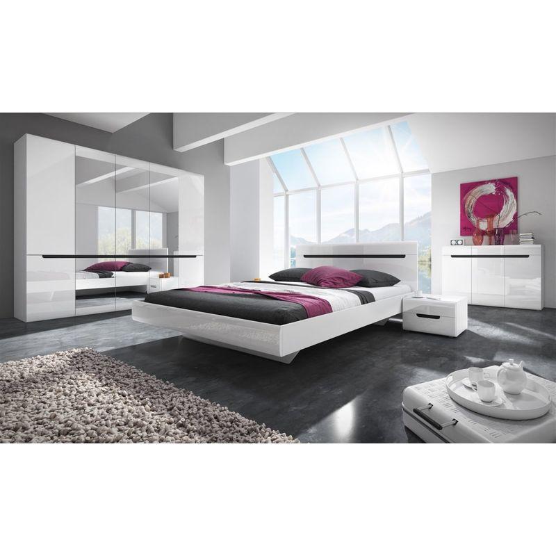 Fun Moebel - Schlafzimmer Set 5 tlg GALAXY inkl.Doppelbett 160cm und Schrank 181cm