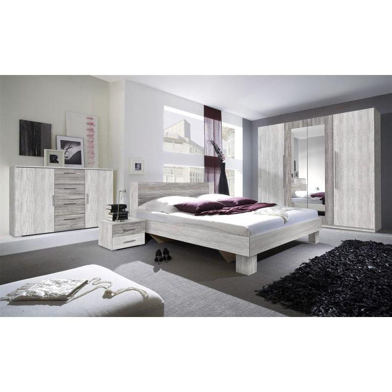 Fun Moebel - Schlafzimmer Set 5 tlg ONTARIO inkl.Doppelbett 160cm und Schrank 228cm