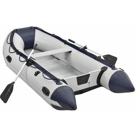 Schlauchboot grau mit Aluboden – aufblasbar- für 4 Personen- 3,20 Meter – Paddelboot inklusive Paddel Pumpe und Tasche – Angelboot - Angeln| ArtSport