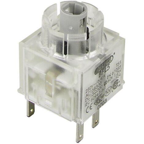 Schlegel BFL5 Élément de contact avec culot dampoule 1 NF (R), 1 NO (T) à accrochage 250 V 1 pc(s)
