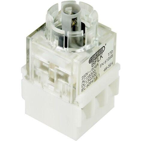 Schlegel BFL5K Élément de contact avec culot dampoule 1 NF (R), 1 NO (T) à accrochage 250 V 1 pc(s)