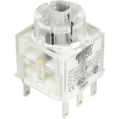 Schlegel BTLO5 Élément de contact avec culot dampoule 2 NF (R) à rappel 250 V 1 pc(s)