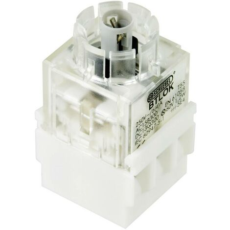 Schlegel BTLO5K Élément de contact avec culot dampoule 2 NF (R) à rappel 250 V 1 pc(s)