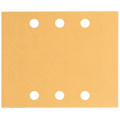 Schleifblatt C470. 10er-Pack. 6 Löcher. 115 x 140 mm. 40. 60. 80. 120. 180