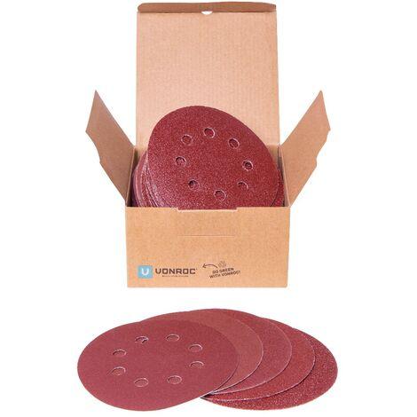 Schleifpapier-Set 125 mm – 50 Stück – Für Exzenterschleifer – Klettverschluss