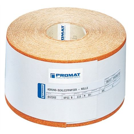 Schleifpapierrolle K.40 L.50m B.115mm Holz-/Farbschliff PROMAT