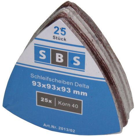 6/L/öcher 50/St/ück SBS Schleifbl/ätter f/ür Deltaschleifer 93/x 93/x 93/mm K/örnung 40