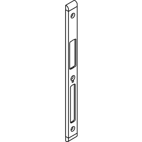Schließblech GU-Secury z. Aufschrauben, Falz 11/18 mm, verzinkt silber