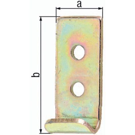 Schließhaken f.Kistenverschlüsse L.34 B.25 S.2mm STA galv.gelb verz.ger.GAH